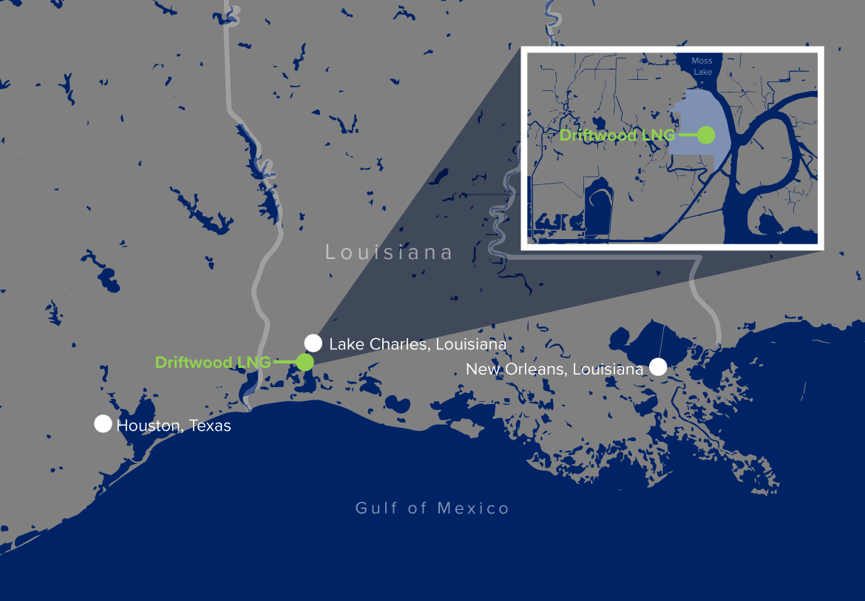 Driftwood LNG Map